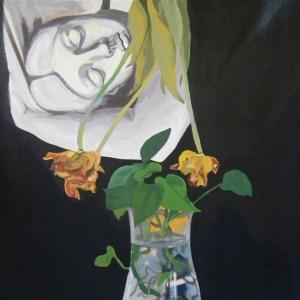 Csendes történet   (70x60cm, olaj, vászon, 2017)