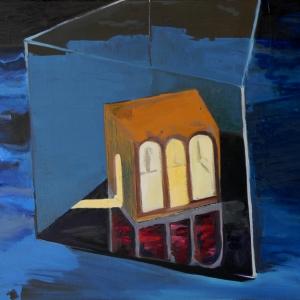 A kocka   (70x90cm, olaj, vászon, 2012)