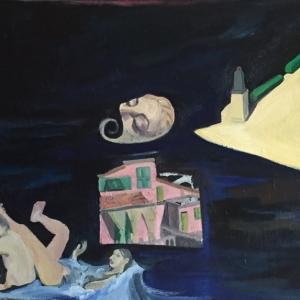 Álom   (70x50cm, olaj, vászon,  2015)