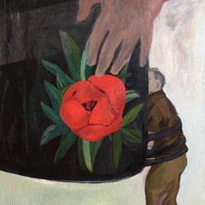 ÚT (A teher)  (70 x 50 cm,  olaj, vászon,  2017)