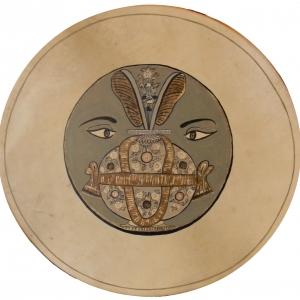 Brahman motívum Rajasztánból 19. sz .