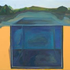 Folyamatok és terek III. (80x100cm, olaj, vászon, 2011, magántulajdon)