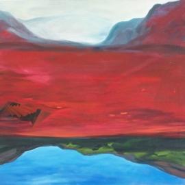 Tükröződés I. (90x90cm, olaj, vászon, 2011, magántulajdon)