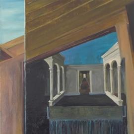 Folyamatok és terek I. (160x90cm, olaj, vászon, 2011)
