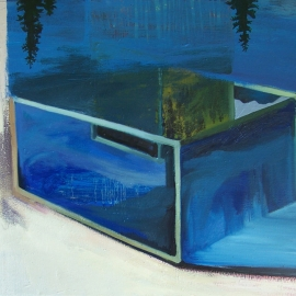 Vízmozgás V. (80 x 100 cm, olaj, vászon,  2012)