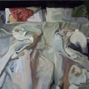 Az ágy (150x100cm, olaj, vászon, 2009-2010, magántulajdon)