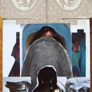 Meditáció (vegyes technika, feszített szitavászon, 2014)