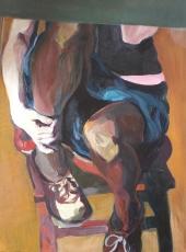 Cím nélkül (100x70cm,olaj, vászon, 2008, magántulajdon)