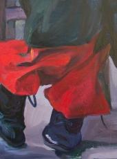 Cím nélkül (50x40cm, olaj, vászon, 2008, magántulajdon)