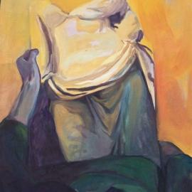 Cím nélkül (130x100cm, olaj, vászon, 2009)