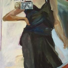 A tükör (130x100cm, olaj, vászon, 2009)