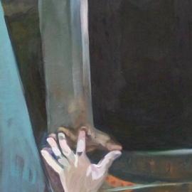 Átjáró (150x100cm, olaj, vászon,2009, magántulajdon)