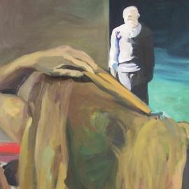 A pillanat örökkévalósága (150x75cm, olaj, vászon, 2009)