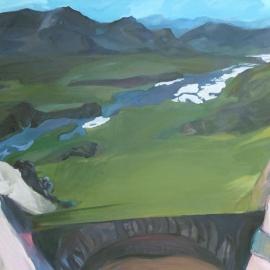 Tükrök sorozat IV. (100x130cm, olaj, vászon, 2008-2009, magántulajdon)
